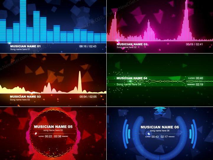 AE可视化音乐播放器 经典版